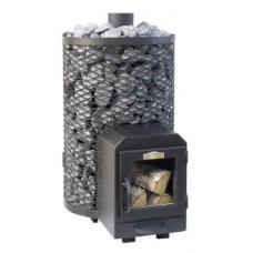 Puukiuas Stoveman 20R-LS, lasiluukulla, seinän läpi lämmitettävä (15-20m³)